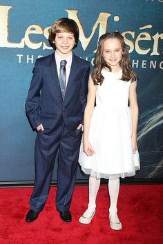 Les Miserables NY Premiere - Daniel Huttlestone and Isabelle Allen