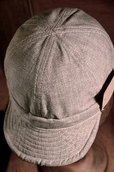 8e9401dffc7 Work Cap - Selvedge Gray Covert cloth