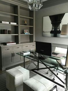 Presents for you the best designs about home office design ideas; for apartments. Presents for you the best designs about home office design ideas; for apartments, in bedroom, for m Home Office Space, Home Office Decor, Office Ideas, Home Decor, Men Office, Office Table, Decorating Office At Work, Modern Home Office Furniture, Office Setup