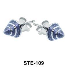 Enamel Cone Silver Stud Earrings. #earpiercing #jewelrypiercing #bodypiercing #piercing