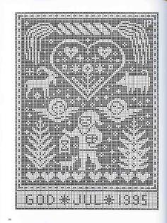 Gallery.ru / Фото #81 - рождество - EditRR Xmas Cross Stitch, Cross Stitch Angels, Cross Stitch Borders, Cross Stitch Charts, Cross Stitching, Cross Stitch Patterns, Nordic Christmas, Christmas Cross, Blackwork Embroidery
