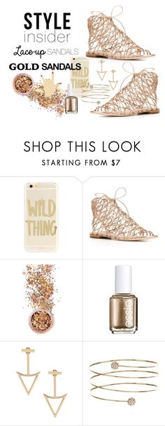 """""""Lace Up Sandals - My Favorite! So Cute!"""" by freckled-gypsy on Polyvore featuring Sonix, Sophia Webster, In Your Dreams, Essie, New Look, contestentry, laceupsandals and PVStyleInsiderContest"""