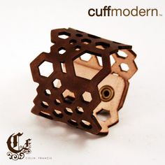 hexed again...laser cut leather cuff by ColinFrancisDesign on Etsy