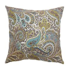 Paisley Pillow in Chocolate