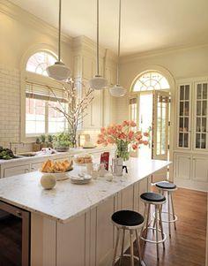 airy kitchen in whites