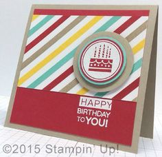 Stampin' Up! Cards - Irresistibly Yours Specialty Designer Series Paper, Amazing Birthday Stamp Set