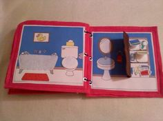 Back to School Sale Pink Portable por lindaskraftykreation en Etsy Diy Quiet Book, Felt Quiet Books, Felt Doll House, Purple Books, Baby Club, Quiet Time Activities, Sick Kids, Busy Book, Handmade Toys