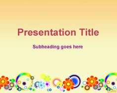Spring flowers PowerPoint template background for presentations in PPT PowerPoint