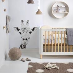 Our new issue is full of great kid's room ideas, like this one styled by @nesdesign  by Melanie Jenkins #neutral #animaltheme