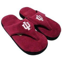 803edffbd2a9 Happy Feet - Indiana Hoosiers - Comfy Flop Slippers - Medium Happy Feet.   16.99