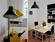 love the desk lamps