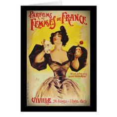 Ladies French Art Nouveau Perfume Card