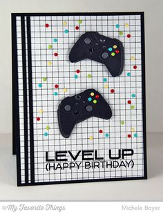 Level Up, Game Controller Die-namics, Grid Background - Michele Boyer #mftstamps
