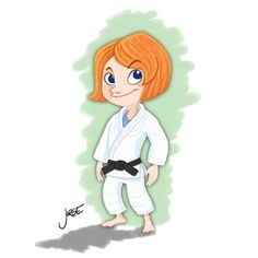 #judo #girl #sketch http://yoquepinto.blogspot.com.es/