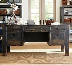 Design a perfect home office with stylish and functional office furniture. Find desk chairs and home office chairs online and at your local Pottery Barn. Home Office Desks, Home Office Furniture, Furniture Ads, Furniture Stores, Apartment Office, Ikea Office, Rustic Apartment, Urban Furniture, Furniture Vintage