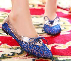 ENMAYER 2014 Summer Hollow Ladies Flats Ballet flats 3Colors Fashion Women casual flat shoes Comfy shoes for woman $41.60
