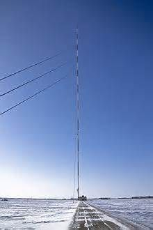 KVLY-TV mast in Blanchard (U.S.A.)