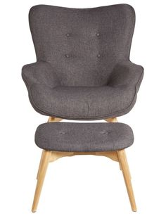 Luca Mabel Armchair with Footstool, Grey - 116 Living Room Furniture, Home Furniture, Sit Back And Relax, Lounge, House Design, Conservatory, Fabric, Grey, Base