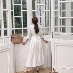 Women dresses spring summer casual ladies pleated long white dresses v neck lace up bow Long Shirt Dress, Kimono Dress, Belted Dress, Plus Size Vintage, Kimono Fashion, Women's Fashion Dresses, Linen Dresses, Wrap Dresses, Aliexpress