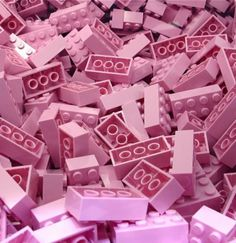 """Pink LEGO Bricks - If you ♥ LEGO, come have a look at LEGO LOVE board http://pinterest.com/mademoisellealm/lego-love/ - I am the French-Israeli designer of """"Mademoiselle Alma"""". Inspired by my daughter, ALMA, I create Jewelry made from LEGO bricks, SWAROVSKI crystals and of course, a great amount of imagination. *** http://www.facebook.com/MademoiselleAlma Hope you LIKE my Facebook page-shop ♥ & http://www.etsy.com/shop/MademoiselleAlma #LEGO"""