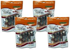 Healthy Hide Good 'N' Fun Triple-flavor Chews, Chicken, Duck and Liver Kabobs, 4oz (Pack of 4) >>> Trust me, this is great! Click the image. : Dog treats