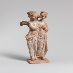 Terracotta statuette of Eros and Psyche  Period: Late Classical or Hellenistic  Date: 4th–3rd century B.C.  Culture: Greek, Boeotian