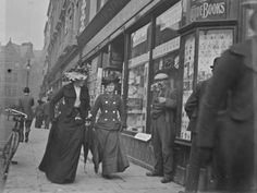 Here is a cool series of photos of Grafton Street in Dublin that we uncovered at the National Library of Ireland. They have an excellent online database of Old Pictures, Old Photos, Vintage Photographs, Vintage Photos, Grafton Street, Images Of Ireland, Dublin Ireland, Historical Photos, Street Photography