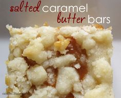Salted Caramel Butter Bars - Cookies and Cups