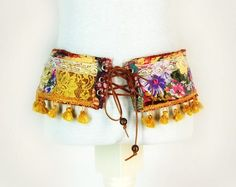 Bohemian Hip Belt Created from Recycled by PrimitiveFringe on Etsy
