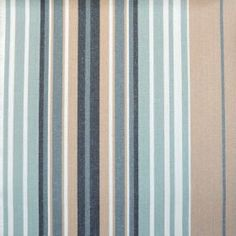 iLiv Beach Indigo Stripe Curtain Craft Upholstery Designer Cotton Fabric