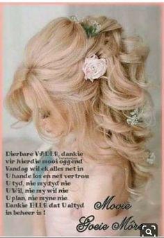 Goeie More, Girls Dresses, Flower Girl Dresses, Afrikaans, Wedding Dresses, Fashion, Dresses Of Girls, Bride Dresses, Moda