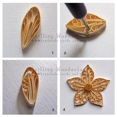 Passo a passo pétalas de papel com técnica de quilling, tutorial flor