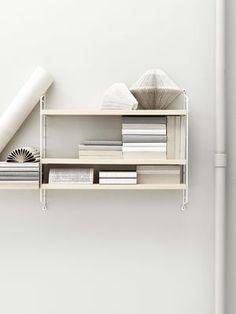 String Pocket Regal / Holz - L 60 x H 50 cm