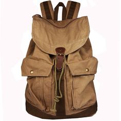 Top Quality Mens Womens Vintage Canvas Backpack Rucksack Satchel Hiking bags on Etsy, $59.99