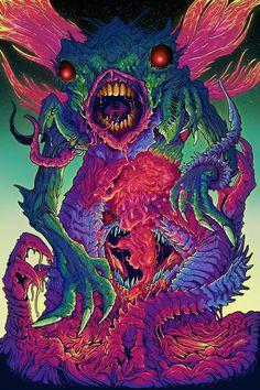 Illustration by Brock Hofer Arte Horror, Horror Art, Monster Illustration, Illustration Art, Acid Art, Tattoo Spirit, Monster Art, Psychedelic Art, Aliens