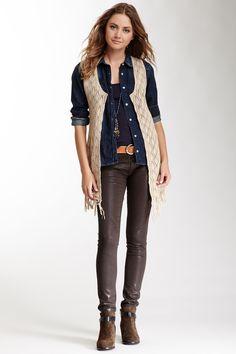 Ash Rain + Oak Knit Vest <3 #style #Fall