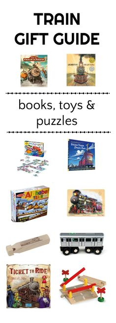 Train Gifts for Kids. Good books, puzzles and games for kids who like trains.