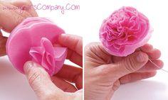 Flores de papel de seda para decorar (paso a paso)
