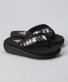 5eee3f44bf5ae6 Corkys Footwear Black   Silver Sequin Caitlyn Flip-Flop