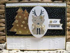 Giddy Stamper: Goldie Deer Joy ~ CCMC423, Merry Monday #212