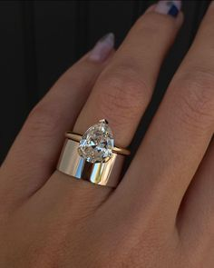 Big Engagement Rings, Antique Style Engagement Rings, Unique Diamond Rings, Right Hand Rings, Dream Ring, Wedding Ring Bands, Gold Bands, Or Rose, Fine Jewelry