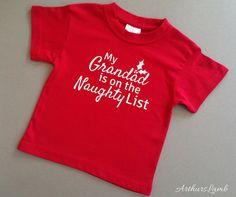 Grandad Naughty List Christmas T Shirt,Grandparent Gift,Grandad Gifts,Grandad Shirt,Grandpa Gift,Christmas Gift Ideas,Gifts for Him,T Shirt