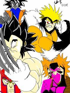 anime multiverse: toonami's xmen. vegeta/wolverine, naruto/sabretooth, goku/colossus, scar/magneto ichigo/gambit