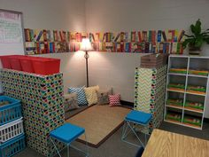 My chevron themed classroom library!