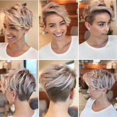 Best Practicality Pixie Haircut Ideas, Best Short Hair for Women frisuren frauen hair hair women Cool Short Hairstyles, Short Pixie Haircuts, Hairstyles For Round Faces, Short Hair With Undercut, Undercut Pixie Haircut, Pixie Haircut For Round Faces, Short Female Haircuts, Hairstyles Haircuts, Pixie Cut Round Face