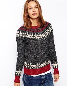I love a Fair Isle knit. Latest Outfits, Fashion Outfits, Wardrobe Images, Fashion Bazaar, Fair Isle Knitting, Casual Elegance, Pullover Sweaters, Knitwear, My Style