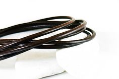 Leather Cord 5mm Dark Brown Greek Leather Cord Necklace