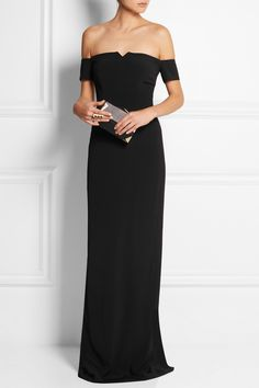 Grace MMXIII | Off-the-shoulder crepe gown | NET-A-PORTER.COM