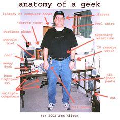 geeks | Pictured: A 'geek' circa 2002.