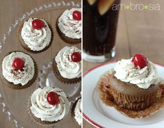 cherry coke cupcakes which apparently taste like coke! (unlike most coca cola cake recipes. Coke Cupcakes, Coke Float, Coca Cola Cake, Bake Sale, Cake Recipes, Fun Ideas, Party Ideas, Delish, Cherry
